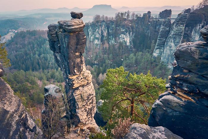 Bastei Aussicht Kleine Gans Wehlnadel