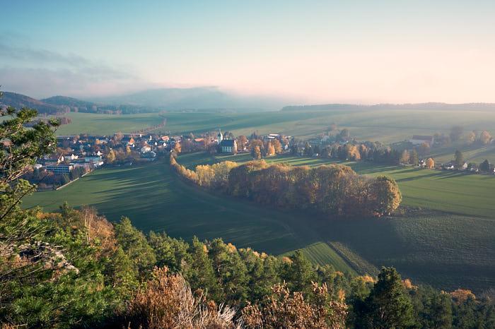 Papststein Aussicht Papstdorf