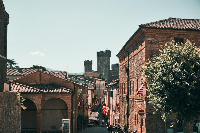 Altstadt Gassen Montalcino