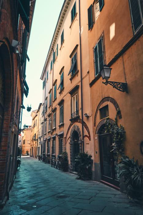 Altstadt Lucca Straßenszene