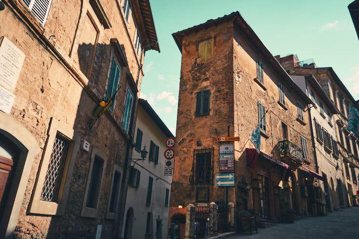 Altstadt Montepulciano Häuser