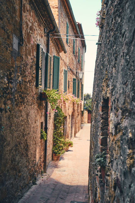 Altstadt Pienza Toskana