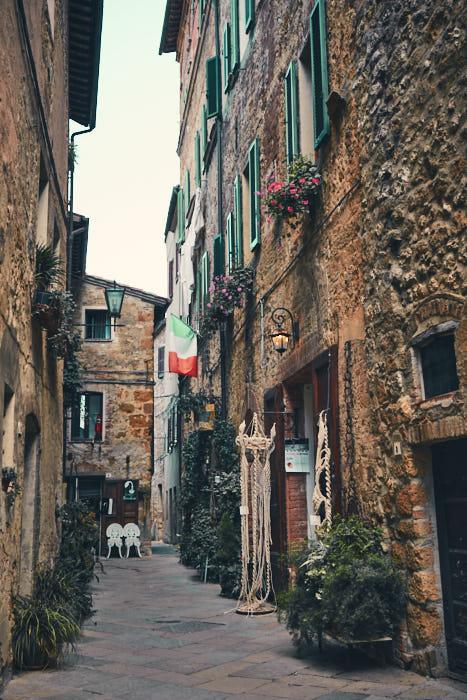 Gasse Altstadt Pienza Val d'Orcia