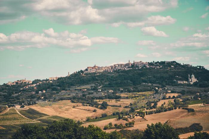 Montepulciano Umland Weinberge Val d'Orcia